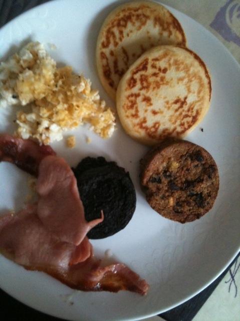A breakfast in Cumbernauld, Scotland