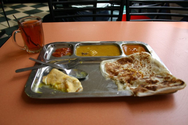 A Roti Canai breakfast in Kuala Lumpur