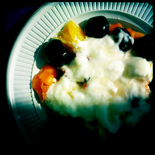 Greek yoghurt with honey and fruits