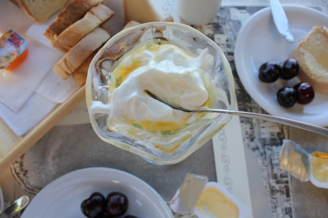Yoghurt and honey from naxos