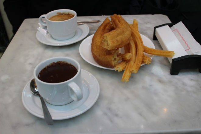 chocolate churros porras san gines